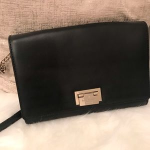 Black Kate Spade Crossbody with Gold Accents